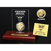The Highland Mint Chicago Bulls Gold Coin Etched Acrylic