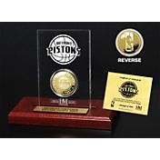 The Highland Mint Detroit Pistons Gold Coin Etched Acrylic