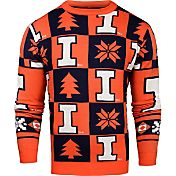 Klew Men's Illinois Fighting Illini Blue Ugly Sweater