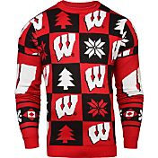 Klew Men's Wisconsin Badgers Red Ugly Sweater