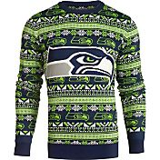 KLEW Men's Seattle Seahawks Aztech Ugly Sweater