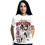 Levelwear Women's Houston Rockets James Harden Center Court T-Shirt