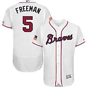 Majestic Men's Authentic Atlanta Braves Freddie Freeman #5 Home White Flex Base On-Field Jersey