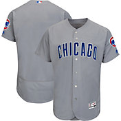 Majestic Men's Authentic Chicago Cubs Road Grey Flex Base On-Field Jersey