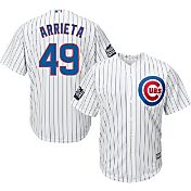 Majestic Men's 2016 World Series Replica Chicago Cubs Jake Arrieta #49 Cool Base Home White Jersey