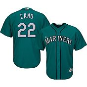 Majestic Men's Replica Seattle Mariners Robinson Cano #22 Cool Base Alternate Teal Jersey