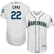 Majestic Men's Authentic Seattle Mariners Robinson Cano #22 Home White Flex Base On-Field Jersey