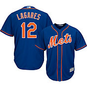 Majestic Men's Replica New York Mets Juan Lagares #12 Cool Base Alternate Home Royal Jersey