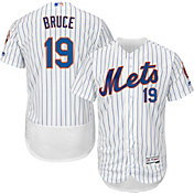Majestic Men's Authentic New York Mets Jay Bruce #19 Home White Flex Base On-Field Jersey