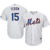 Majestic Men's Replica New York Mets Tim Tebow #15 Cool Base Home White Jersey