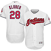 Majestic Men's Authentic Cleveland Indians Corey Kluber #28 Home White Flex Base On-Field Jersey