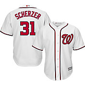 Majestic Men's Replica Washington Nationals Max Scherzer #31 Cool Base Home White Jersey