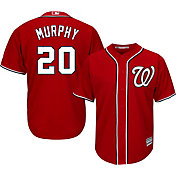 Majestic Men's Replica Washington Nationals Daniel Murphy #20 Cool Base Alternate Red Jersey