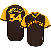 Majestic Men's Replica San Diego Padres Goose Gossage Cool Base Brown Cooperstown Jersey