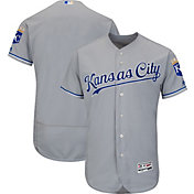 Majestic Men's Authentic Kansas City Royals Road Grey Flex Base On-Field Jersey