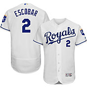 Majestic Men's Authentic Kansas City Royals Alcides Escobar #2 Home White Flex Base On-Field Jersey