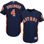 Majestic Men's Authentic Houston Astros George Springer #4 Alternate Navy Flex Base On-Field Jersey