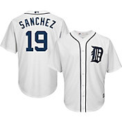 Majestic Men's Replica Detroit Tigers Anibal Sanchez #19 Cool Base Home White Jersey