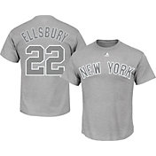 Majestic Men's New York Yankees Jacoby Ellsbury #22 Grey T-Shirt