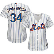 Majestic Women's Replica New York Mets Noah Syndergaard #34 Cool Base Home White Jersey