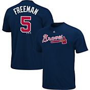 Majestic Youth Atlanta Braves Freddie Freeman #5 Navy T-Shirt