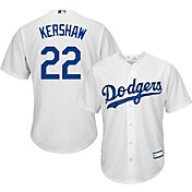 Majestic Youth Replica Los Angeles Dodgers Clayton Kershaw #22 Cool Base Home White Jersey