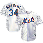 Majestic Youth Replica New York Mets Noah Syndergaard #34 Cool Base Home White Jersey
