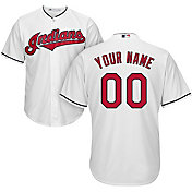 Majestic Youth Custom Cool Base Replica Cleveland Indians Home White Jersey