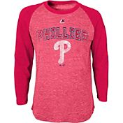 Majestic Youth Philadelphia Phillies Red Raglan Long Sleeve Shirt