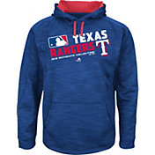 Majestic Youth Texas Rangers On-Field Royal Authentic Collection Pullover Hoodie
