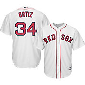 Majestic Youth Replica Boston Red Sox David Ortiz #34 Cool Base Home White Jersey