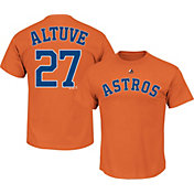 Majestic Youth Houston Astros Jose Altuve #27 Orange T-Shirt