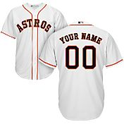 Majestic Youth Custom Cool Base Replica Houston Astros Home White Jersey