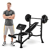 Marcy Standard Weight Bench and 80 lb. Weight Set