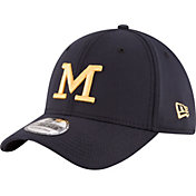 New Era Men's Michigan Wolverines Blue 39Thirty Flexfit Hat