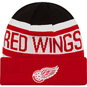 New Era Men's Detroit Red Wings Biggest Fan Redux Fleece Knit Hat