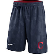 Nike Men's Cleveland Indians Dri-FIT Navy Knit Shorts