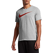 Nike Men's Dry Heathered Swoosh Graphic T-Shirt