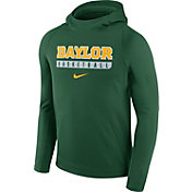 Nike Men's Baylor Bears Green Basketball Performance Hoodie