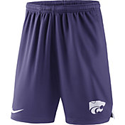 Nike Men's Kansas State Wildcats Purple Knit Football Sideline Performance Shorts