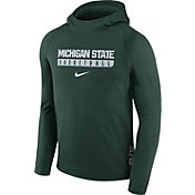 Nike Men's Michigan State Spartans Green ELITE Basketball Performance Hoodie