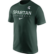 Nike Men's Michigan State Spartans Green Football Practice T-Shirt