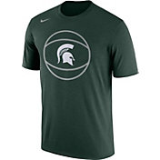 Nike Men's Michigan State Spartans Green Basketball Legend T-Shirt