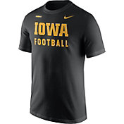 Nike Men's Iowa Hawkeyes Football Sideline Facility Black T-Shirt