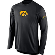 Nike Men's Iowa Hawkeyes ELITE Shooter Black Long Sleeve Shirt