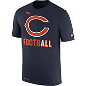 Nike Men's Chicago Bears Sideline 2017 Legend Football Performance Navy T-Shirt