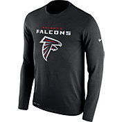Nike Men's Atlanta Falcons Essential Lockup Black Long Sleeve Shirt