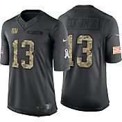 Nike Men's Home Limited Jersey New York Giants Odell Beckham Jr. #13 Salute to Service 2016