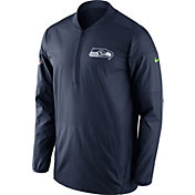 Nike Men's Seattle Seahawks Lockdown Navy Half-Zip Performance Jacket