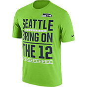 Nike Men's Seattle Seahawks 'Bring on the 12' Performance Green T-Shirt